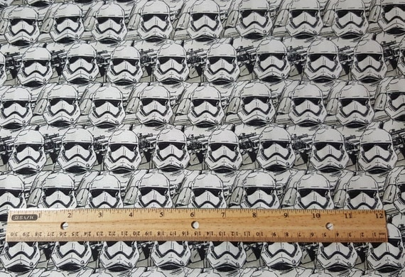 Storm trooper fabric star wars fabric by the yard fat for Star wars fabric