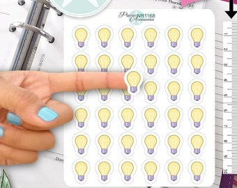 Light Bulb Stickers Idea Stickers Reminder Stickers Erin Condren Functional Stickers Decorative Stickers NR1168