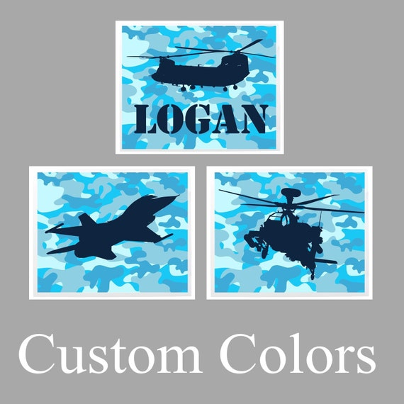 Personalized Military Wall Art Set Of 3 Prints Or Canvas