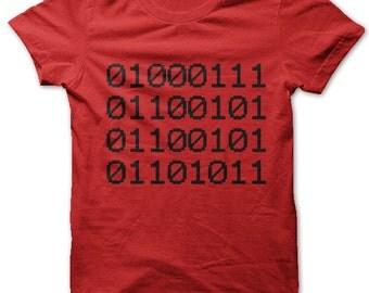 Geek in Binary t-shirt