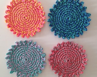 Crochet Colorful coaster