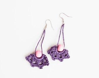 Long Earrings Dangle. Dangling Jewelry Dangling Crochet Earrings. Crochet Jewelry