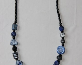 "Necklace ""blue winter"""