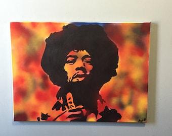 Jimmy Hendrix Pop Art Acrylic Painting 18x24