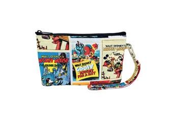 Classic Mickey Print Wristlet // Clutch // Wallet // Disney