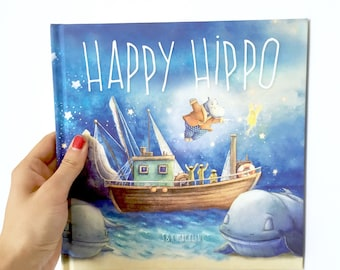 Childrens Book, Picture Book, Kids Lit, Story Book, Childrens Lit, Kids Gift, KIds Christmas Gift, Joyful, Happy Hippo