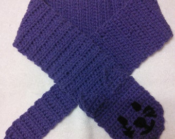 Handmade crochet kitty cat scarf