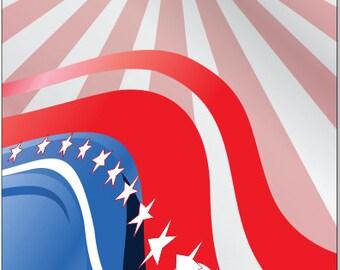 Proud American Flag Stars LAMINATED Cornhole Wrap Bag Toss Decal Baggo Skin Sticker Wraps