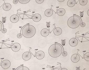 Vintage Bikes 100% Cotton Fabric