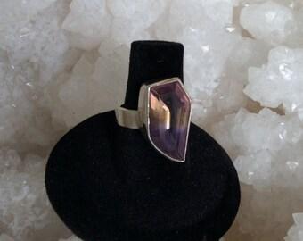 Modern Ametrine Sterling Silver Ring Size 6