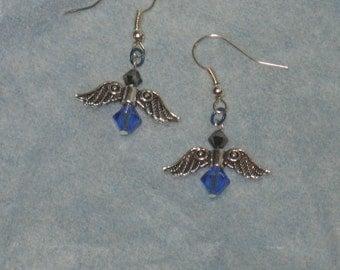 Water Angels-Handmade Swarovski Crystal Angel Earrings