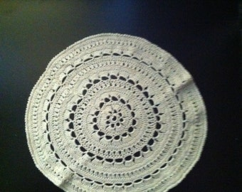 off-white 9 inch filigree doily