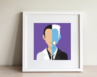 Two Face Art Print