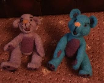Needle felted Bears.