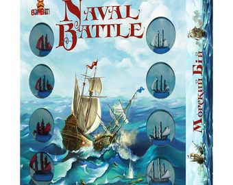 Naval battle: board game for boys