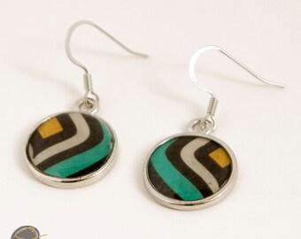 Earrings, Resin Earrings, Retro Resin jewelry, dangle earrings
