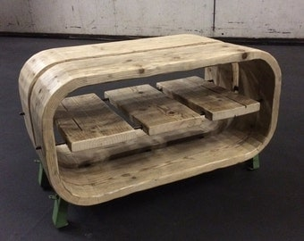 Rustic industrial Coopered coffee table