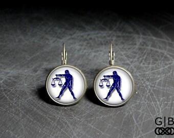 Libra Earrings Dangles September Libra Earrings - Zodiac Libra Earrings Zodiac Dangles - September Birthday Earrings Libra Zodiac Earrings