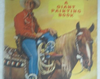 1950 Gene Autry Painting Book