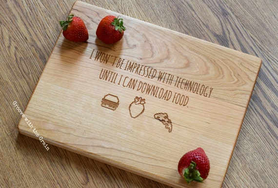 Geek Wedding Gifts: Items Similar To Engraved Cutting Board, Gamer Gift