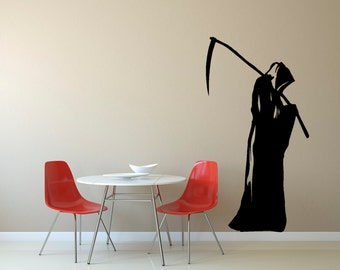 Halloween Wall Decals Grim Reaper Decals Halloween Decor Wall Art Reaper Decals