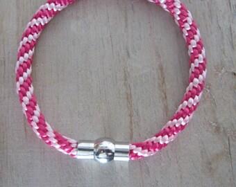 Kumihimo bracelet, kumihimo braided strap, pink kumihimo bracelet, moderne bracelet, valentines day gift, handmade bracelet