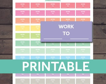 Work Stickers, Shift Work Stickers, Printable Work Planner Stickers
