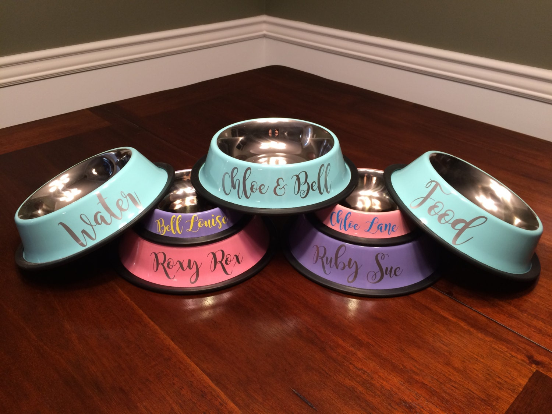 Pet Bowls Personalized Dog Bowls Cat Bowls