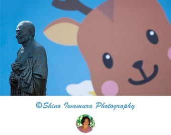 Monk Japan Photo Print Asian Decor Photography Wall Art Japan Art