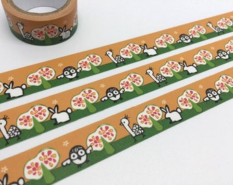 Cute animal washi tape 3M turkey rabbit owl forest animal sticker lovely animal print decor kid animal party invitation planner gift