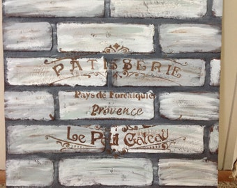 French Bakery Faux Brick Wall Piece