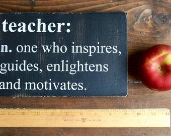 Back to School Sign - Small Sign - Definition of a Teacher - Teacher Gift - Classroom Banner