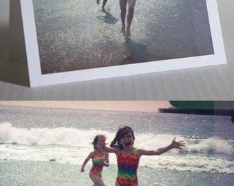 "Rescued Film ""Beach"" Card (Blank)"