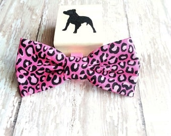Bow tie, Dog accessory, Dog bow tie, Pink Bow tie, Big kitty print, Dog party, Home party, Dog birthday, Rescue, Event, Pet accessories,