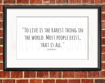 Oscar Wilde Quote Printable