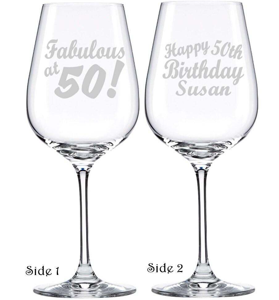 50th Birthday Wine Glass Birthday Gift For By