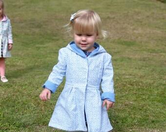 Reversible girls jacket - girls coat - toddler jacket - toddler coat - girls hoodie - dress coat - girls clothing -  SIZE T3