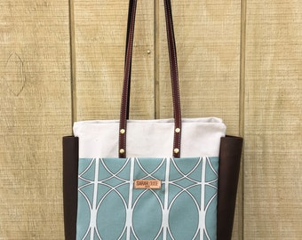 Durable Canvas and Leather Tote Bag