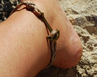 Womens HOPE Anchor Anklet - Pick your Colour Rope Bracelet for Ankle - Anchor Paracord Anklet - Single Wrap Anklet - Anchor Paracord