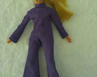 Dinah-Mite 1972 Mego Doll with Purple Jumpsuit w/Free Shipping