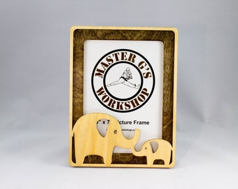 5 x 7 or 4 x 6 elephant picture frame laser - Elephant Picture Frame
