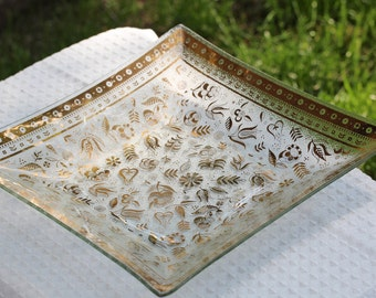 Mid Century Georges Briard Plate/Platter with Persian Garden Pattern