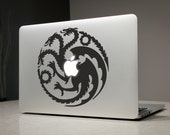 Khaleesi Game of Thrones Dragons Macbook Decal Sticker Laptop Vinyl Decals Stickers Apple Mac Pro Air Handmade Gifts Daenerys Targaryen