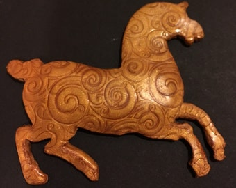 Chinese Horse - (Magnetic Pin Back)