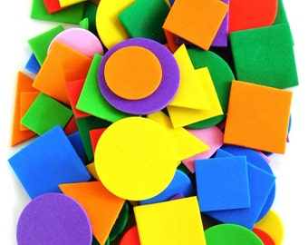 Foam Shapes 100pcs