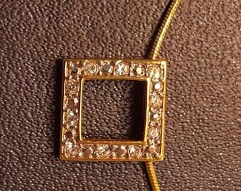 Necklace, 'diamond' set square
