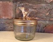 Bronze Dinosaur Mason Jar