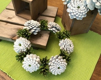 Pine Cone Wreath / Candle Ring