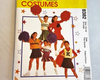 Vintage 1996 McCall's Cheerleader cheerleading costume 8382  for Girls Size XL 12 14 UNCUT