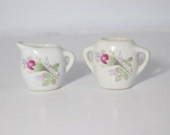 Doll House Sugar Creamer / Miniature Porcelain
